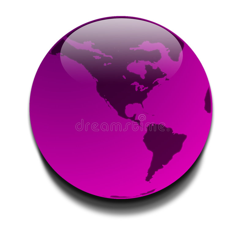 Planeta Roxo Imagens de Stock Royalty Free