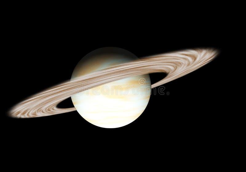 Planeta Saturno con los anillos libre illustration