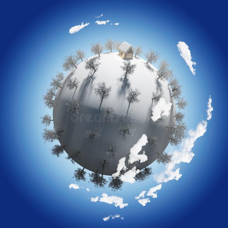 Planeta sezonu zima ilustracja wektor