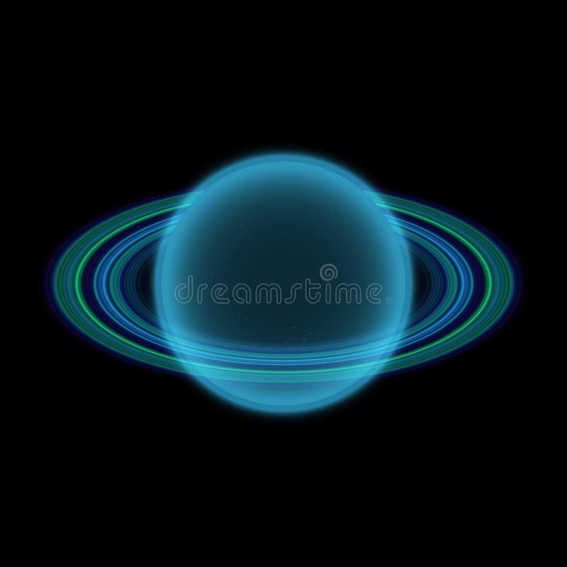 Planeta Shinning en uniferse lejano Planeta abstracto con el anillo colorido en alguna parte libre illustration