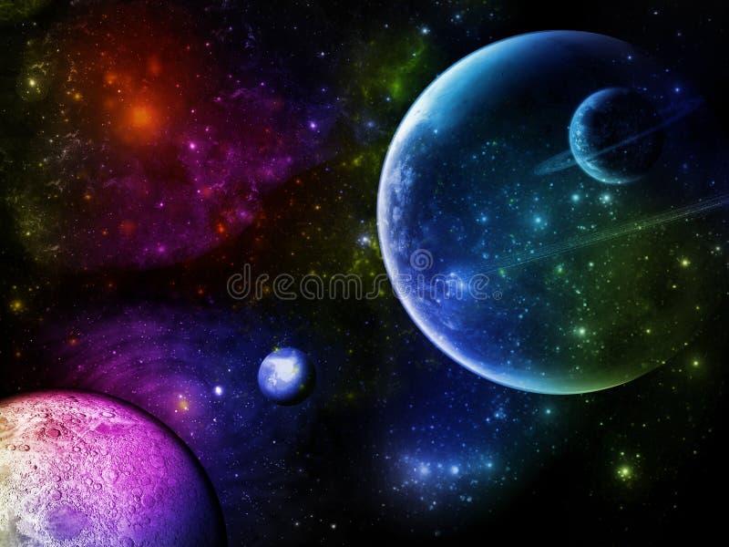 Planeta skutek royalty ilustracja