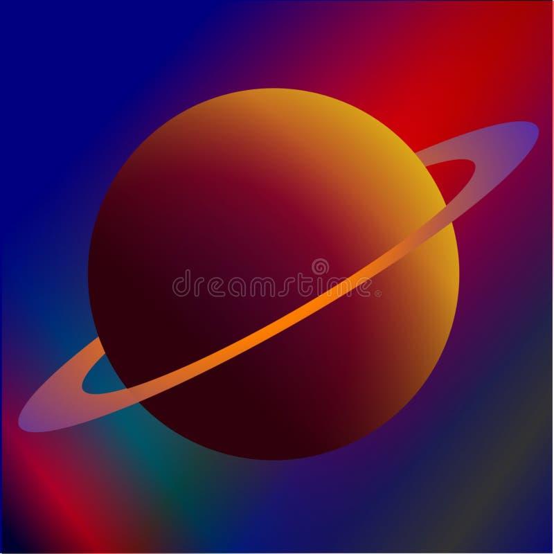 planeta upierścieniona ilustracja wektor
