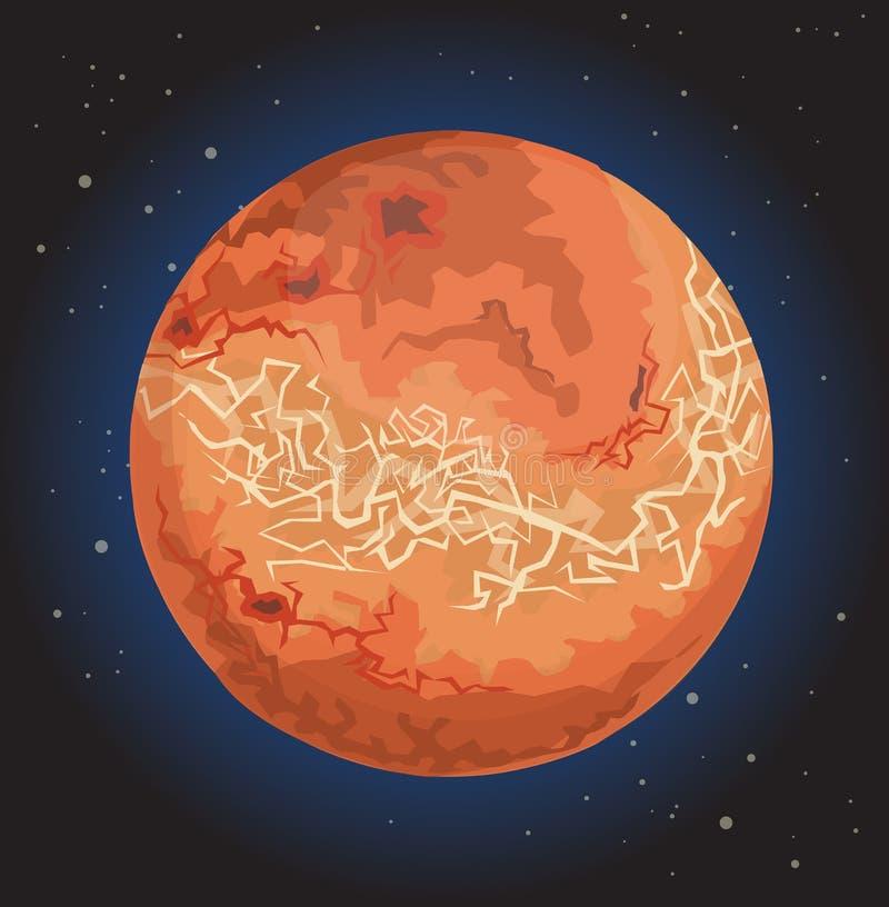 Planeta Venus ilustração stock