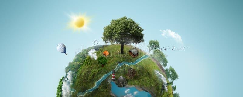 Planeta verde ilustração stock