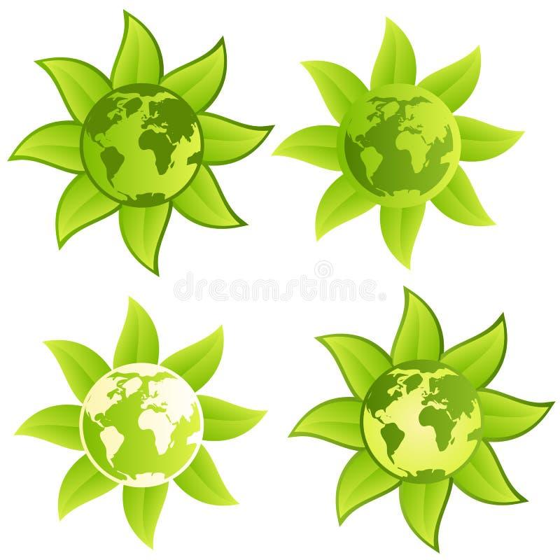 Planeta Verde - Sinal/tecla Foto de Stock Royalty Free