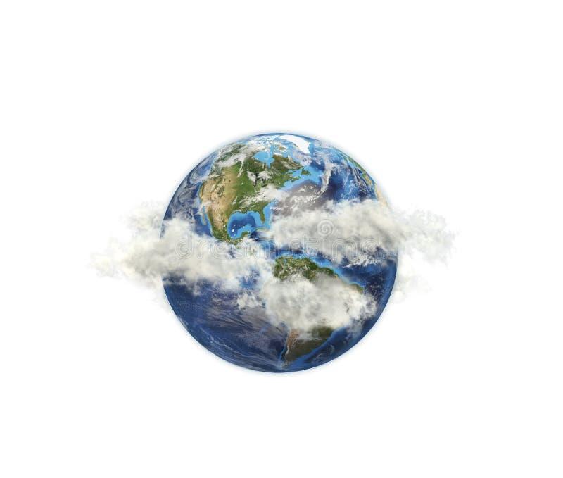 Planeta wśród chmur zdjęcie royalty free