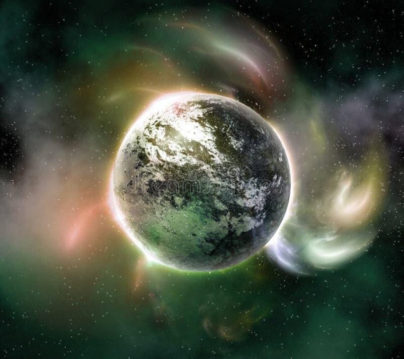 Planeta w przestrzeni royalty ilustracja