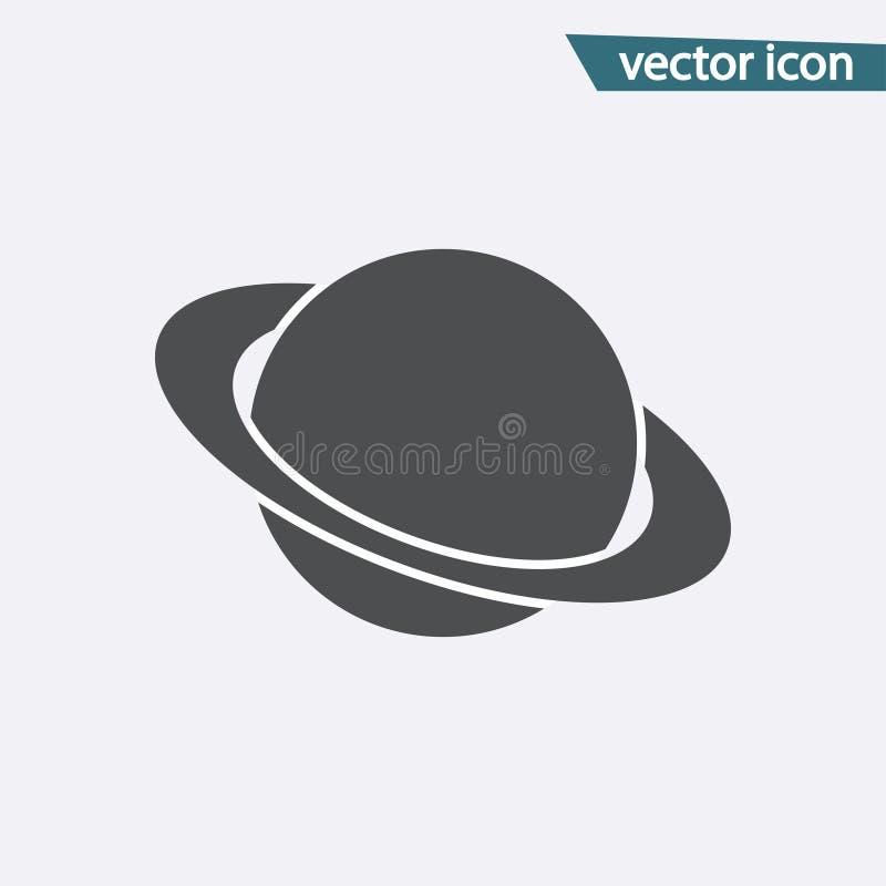 Planeta wektoru ikona Płaski Saturn symbol odizolowywający na białym tle Modny interneta pojęcie nowożytny ilustracja wektor