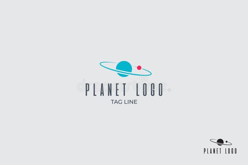 Planeta y logotipo por satélite del vector libre illustration