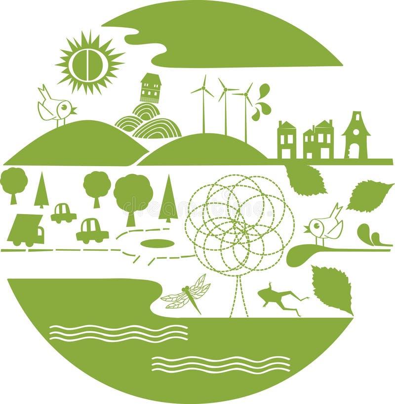 planeta zielony wektor ilustracji