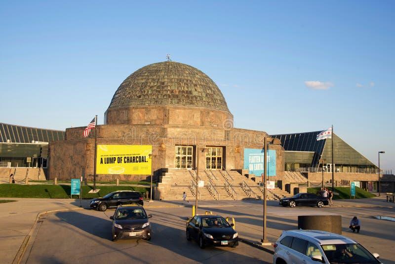 Planetario di Adler, Chicago, IL fotografie stock libere da diritti