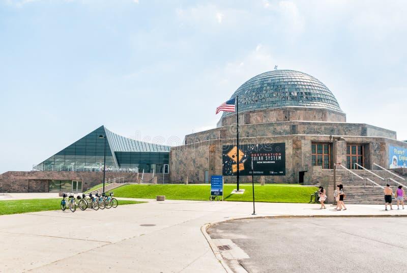 Planetario di Adler, Chicago, U.S.A. fotografie stock libere da diritti