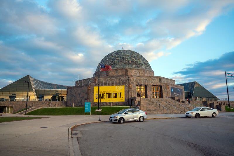 Planetario di Adler & museo di astronomia immagine stock