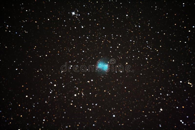 Planetarische duisternism27 mening in telescoop royalty-vrije illustratie