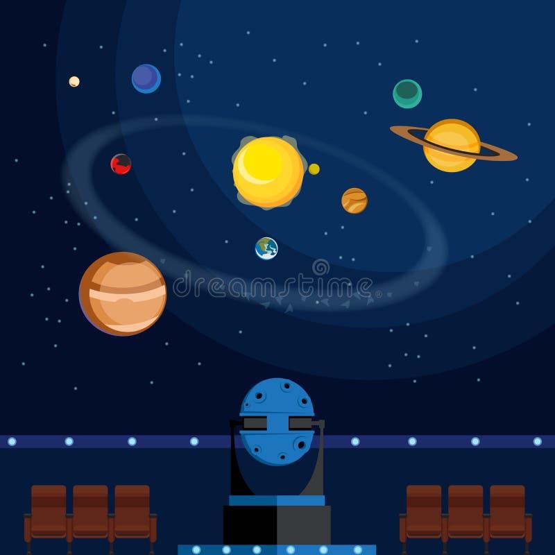 planetarium ilustração stock