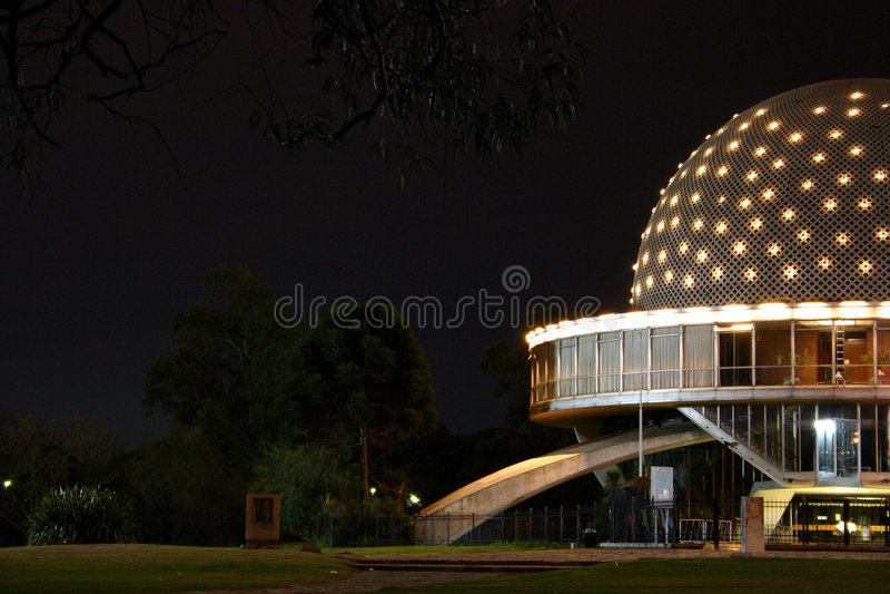 Planetarium bij Nacht stock fotografie