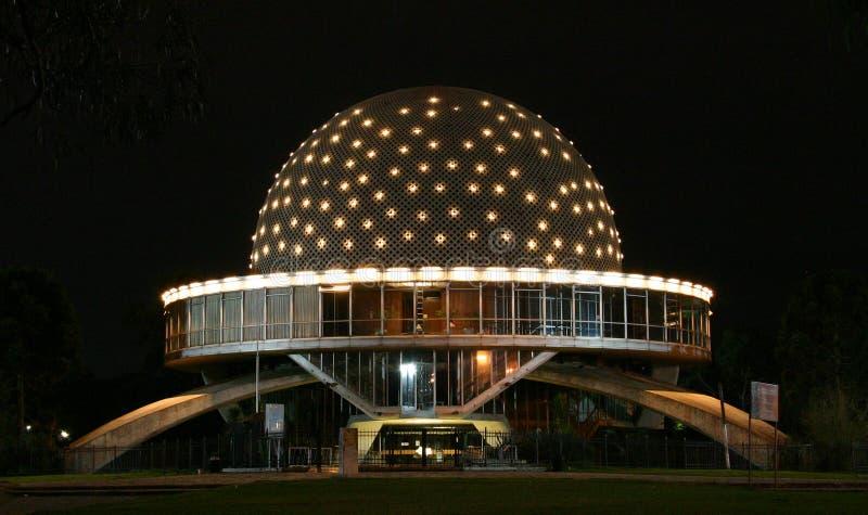 Planetarium bij Nacht stock afbeelding
