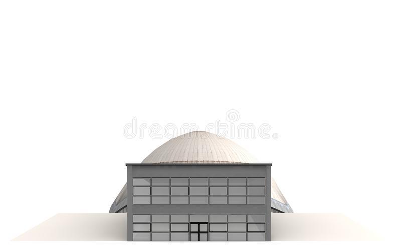 The Planetarium 3. Planetarium Bochum is a place to look at the stars stock illustration