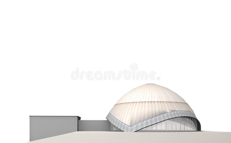 The Planetarium 2. Planetarium Bochum is a place to look at the stars vector illustration