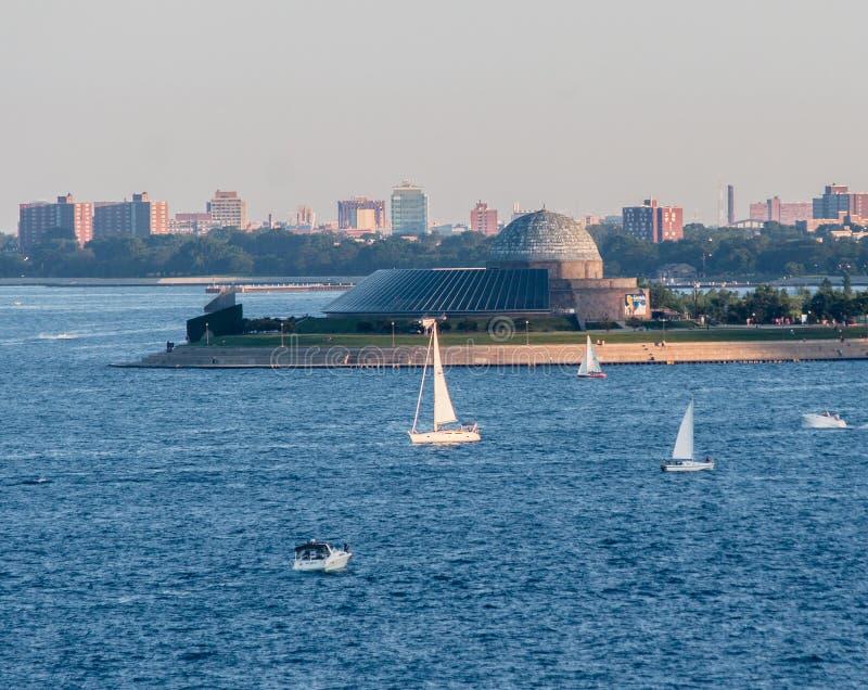 Planetarium Chicago de Adler foto de stock