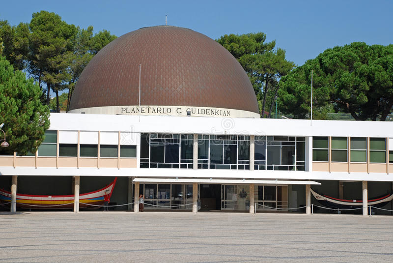 Planetarium i Lissabon, Portugal arkivfoto