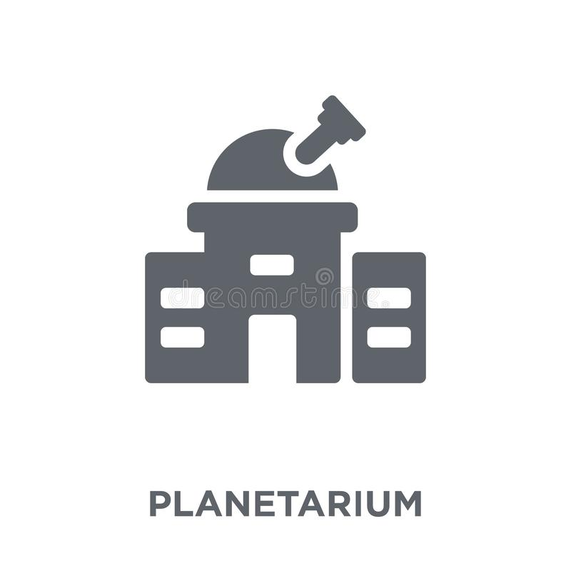 Planetarium icon from Astronomy collection. Planetarium icon. Planetarium design concept from Astronomy collection. Simple element vector illustration on white royalty free illustration