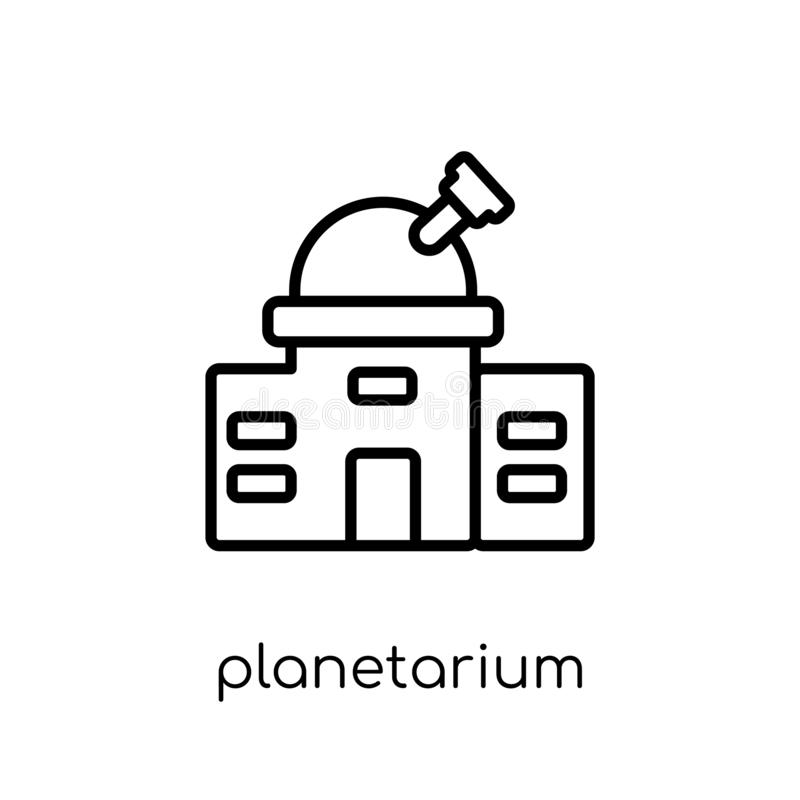 Planetarium icon from Astronomy collection. Planetarium icon. Trendy modern flat linear vector planetarium icon on white background from thin line Astronomy royalty free illustration
