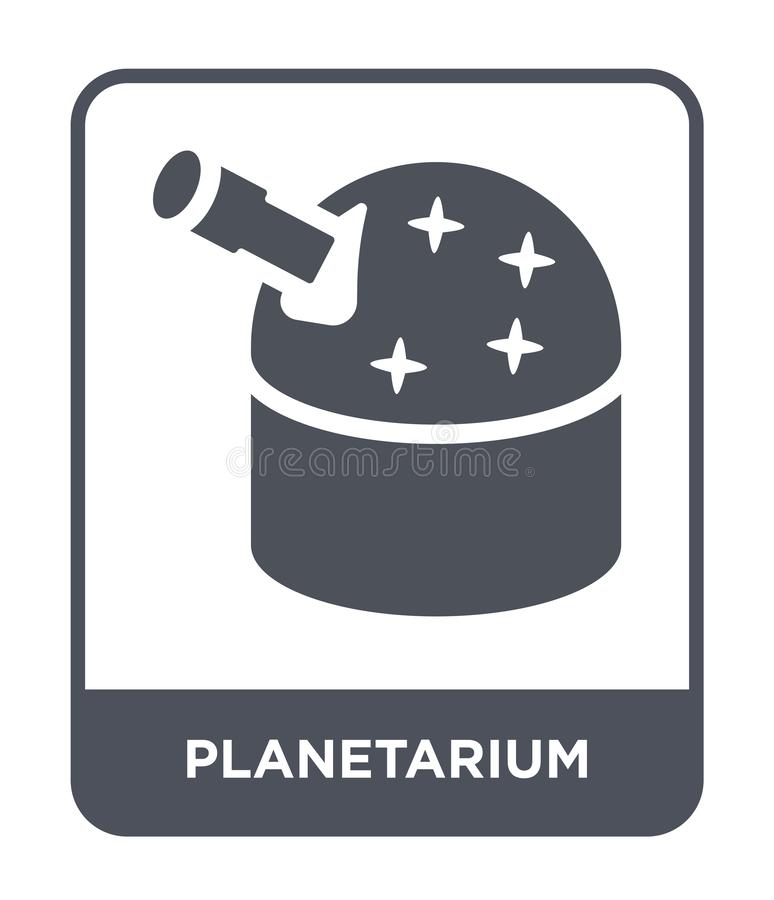 Planetarium icon in trendy design style. planetarium icon isolated on white background. planetarium vector icon simple and modern. Flat symbol for web site stock illustration