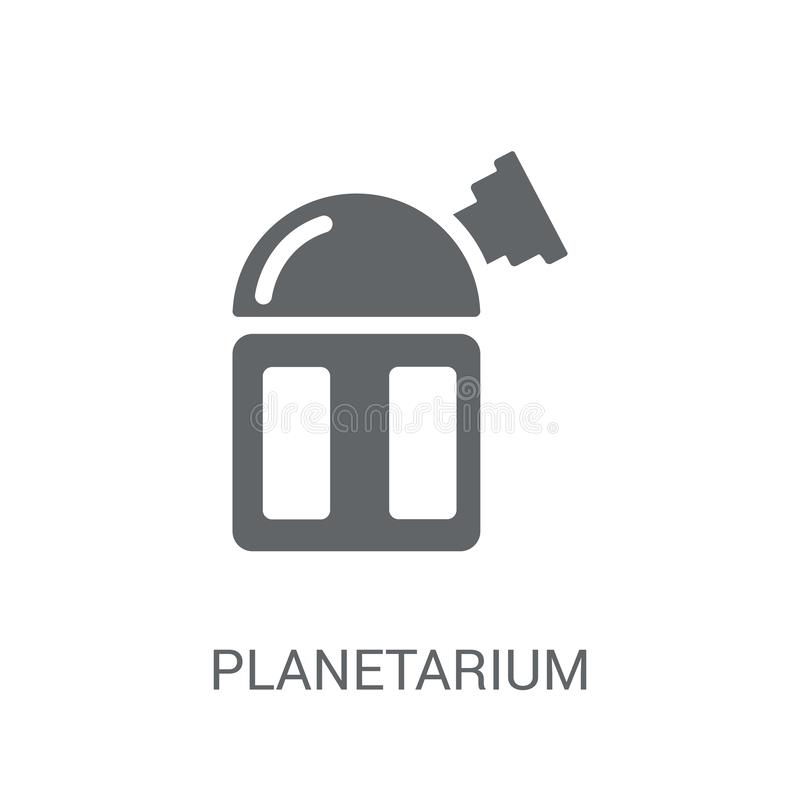 Planetarium icon. Trendy Planetarium logo concept on white background from Astronomy collection. Suitable for use on web apps, mobile apps and print media stock illustration