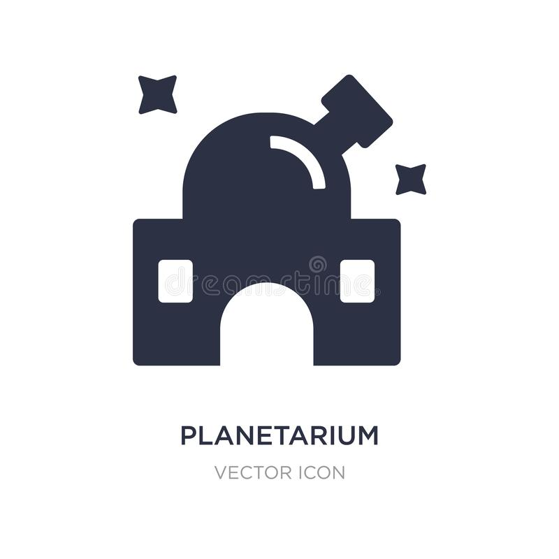 Planetarium icon on white background. Simple element illustration from Astronomy concept. Planetarium sign icon symbol design stock illustration