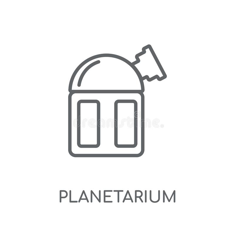 Planetarium linear icon. Modern outline Planetarium logo concept. On white background from ASTRONOMY collection. Suitable for use on web apps, mobile apps and vector illustration