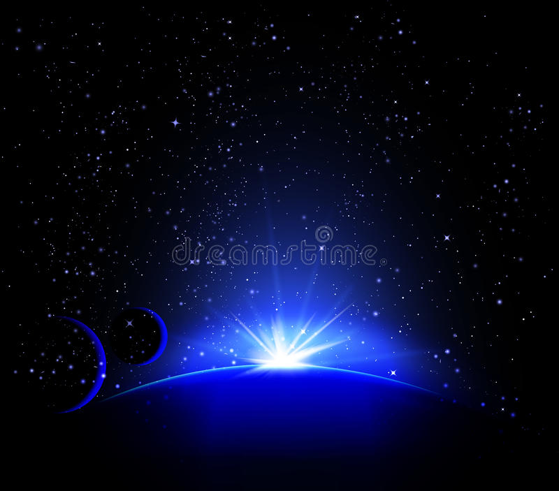 Planetariumruimte royalty-vrije illustratie
