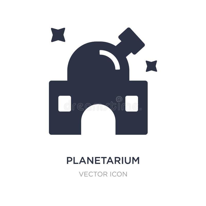 Planetariumsikone auf weißem Hintergrund Einfache Elementillustration vom Astronomiekonzept stock abbildung