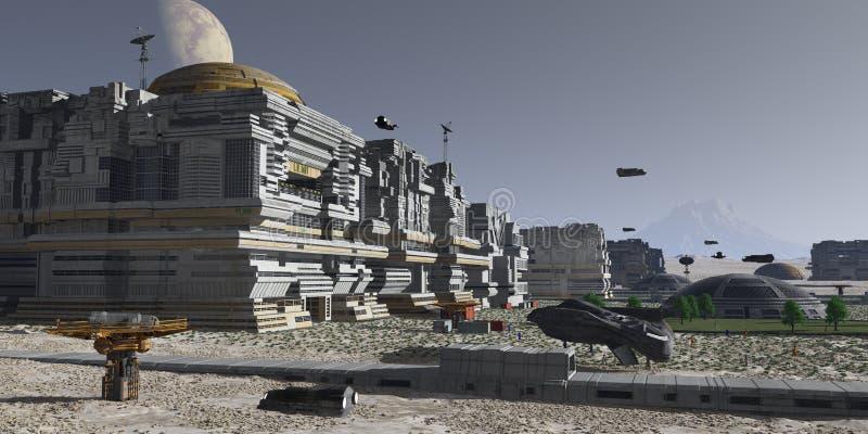 Planetarna ludzka kolonia zdjęcia royalty free