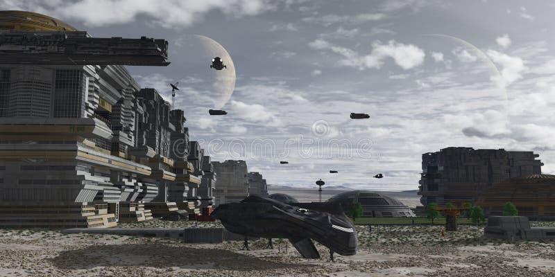 Planetarna ludzka kolonia obrazy stock