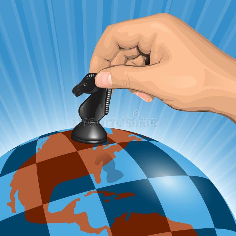 Planetary chessboard vector illustration