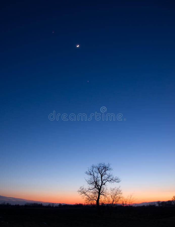 Free Planetary Conjunction Royalty Free Stock Photography - 23560907