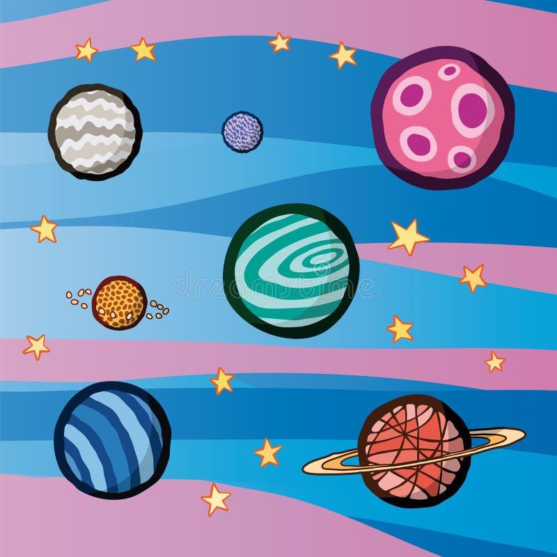 Planetas ilustração royalty free