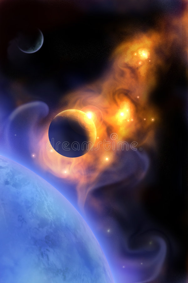 Planetas ilustração stock