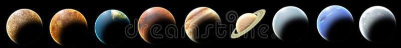Planetas ilustração do vetor