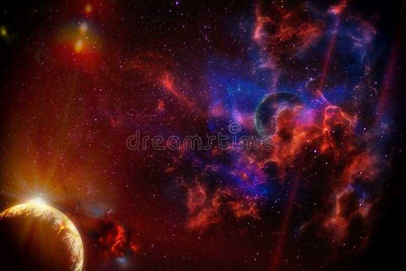 Planetas de aumentação ilustração stock