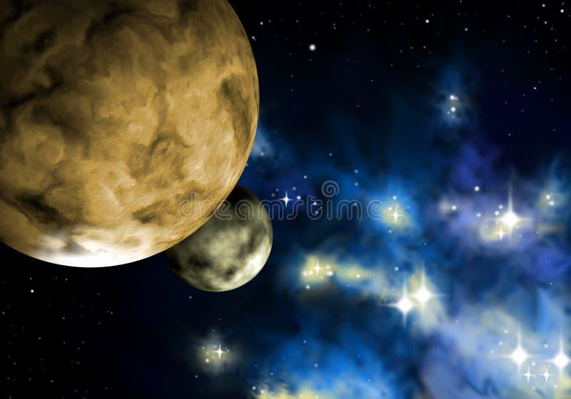 Planetas de Extrasolar ilustração do vetor