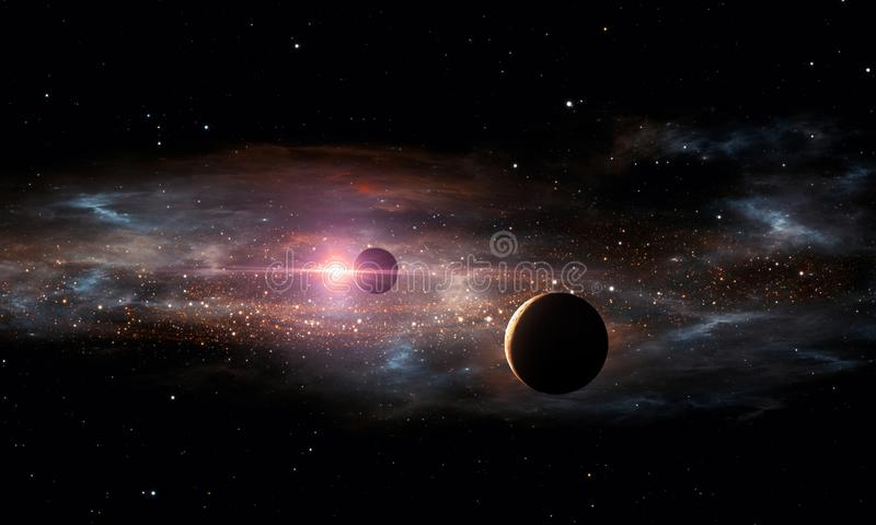 Planetas de Extrasolar O espaço ilustração stock
