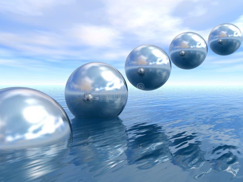 Planetas de levantamiento ilustración del vector