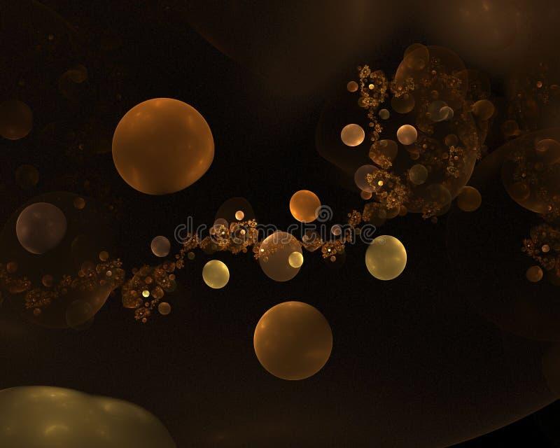 Planetas distantes oscuros de oro libre illustration