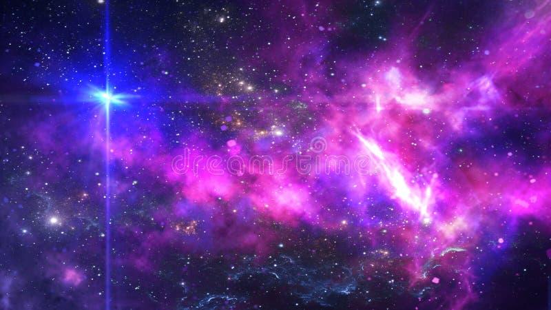 Planetas e galáxia, cosmos, cosmologia física ilustração do vetor