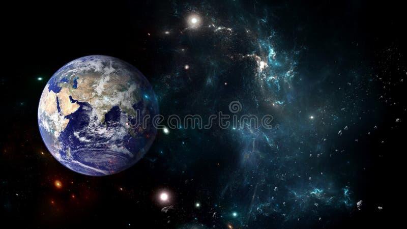 Planetas e galáxia, cosmos, cosmologia física imagens de stock royalty free