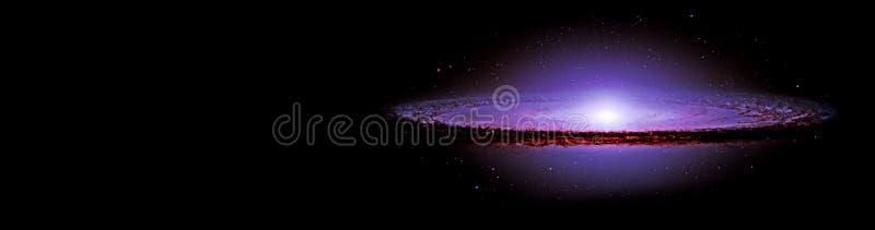 Planetas e galáxia, papel de parede da ficção científica fotografia de stock