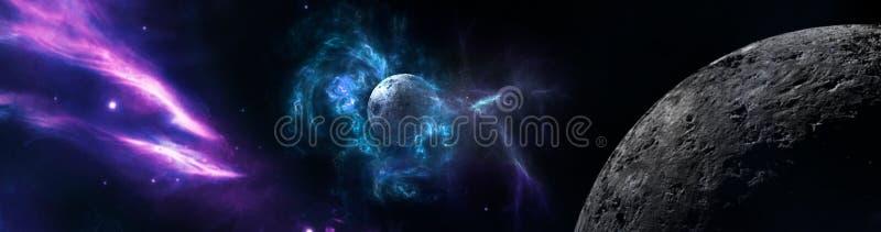 Planetas e galáxia, papel de parede da ficção científica
