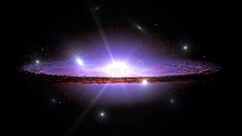 Planetas e galáxia, papel de parede da ficção científica Beleza do espaço profundo fotografia de stock